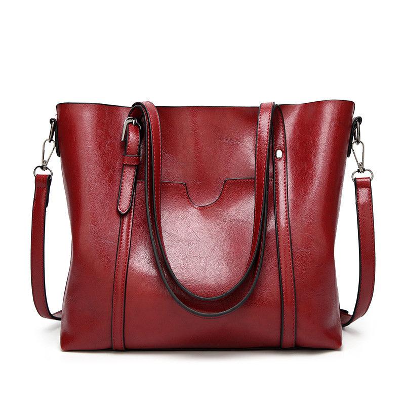 product-Osgoodway2 Wholesale fashion oil wax PU leather handbags stylish ladies big women shoulder h-1