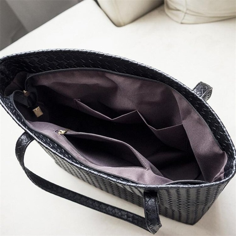 product-Osgoodway2 fashion large capacity wholesale shoulder strap tote bag luxury woven pattern PU -1