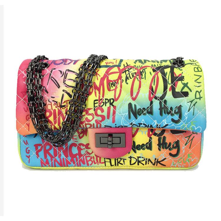 Osgoodway 2020 Graffiti Bag Ladies Fashion Handbags Women Leather Graffiti Shoulder Crossbody Bag Lady Graffiti Bag