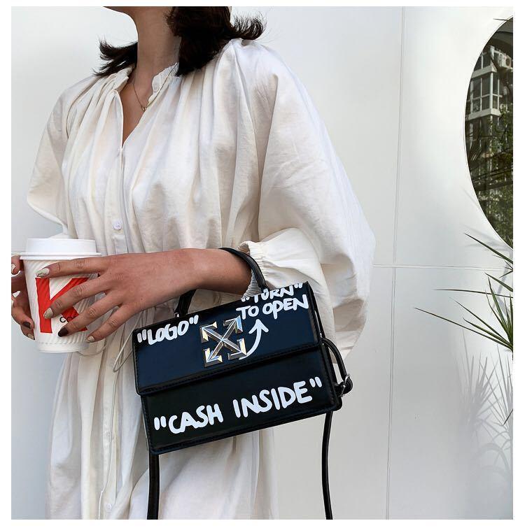 product-Osgoodway2 Graffiti letter ladies sling shoulder bag cell phone crossbody bag women unique h-1
