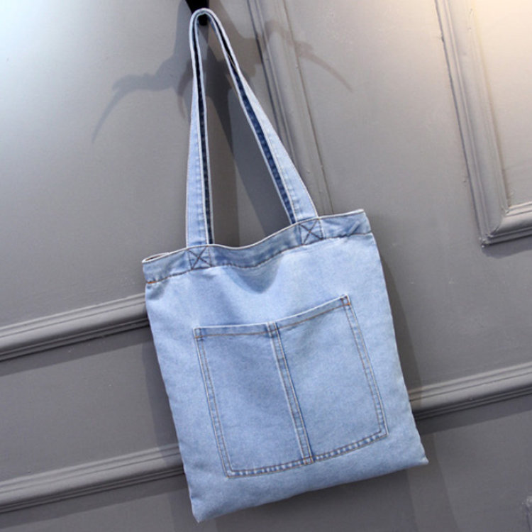 product-Osgoodway2 Casual Denim Fabric Tote Shoulder Shopping Bag Wholesale Women Handbags-Osgoodway-1