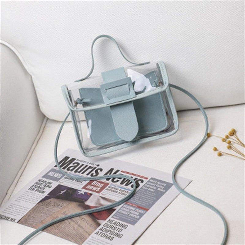 Osgoodway2 Korean style transparent crossbody bag hand bags small handbags for women