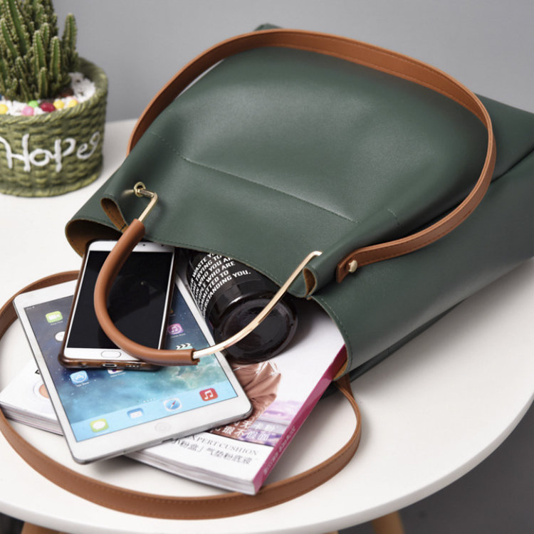 product-Osgoodway2 IG Hot Selling Women Leather Shoulder Bucket Sling Bag Wholesale Ladies Handbags--1