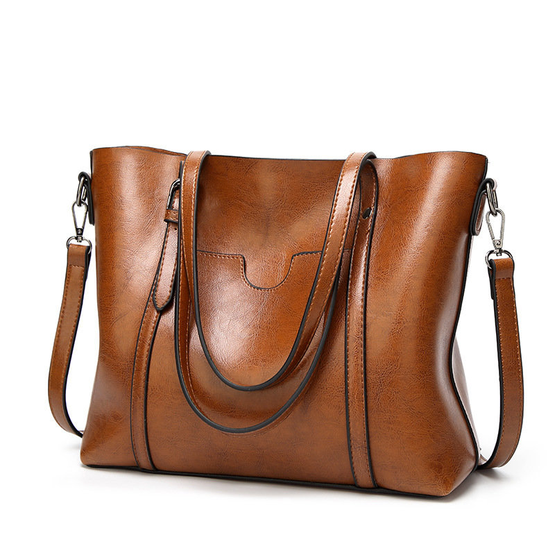 product-Osgoodway-Osgoodway2 Women Bag Oil Wax Big PU Leather Handbags for Women Tote Handbags Ladie