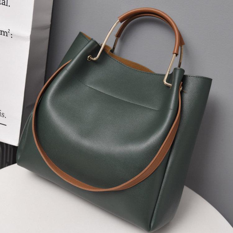 Osgoodway2 IG Hot Selling Women Leather Shoulder Bucket Sling Bag Wholesale Ladies Handbags