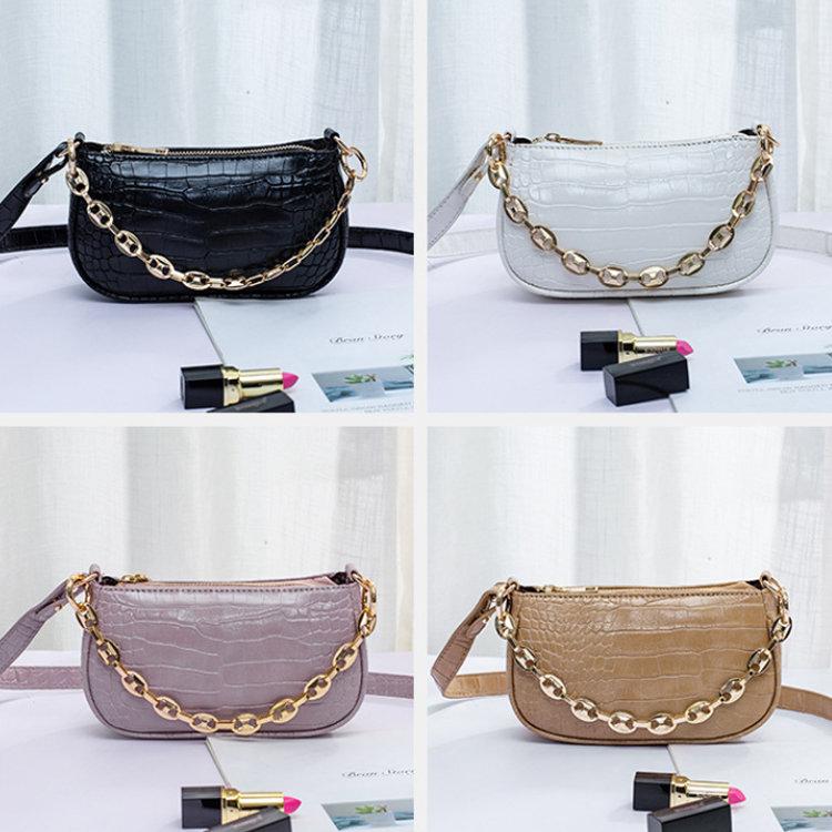 product-Osgoodway2 Lady small underarm bag crocodile pattern hand bag shoulder bag PU leather handba-1