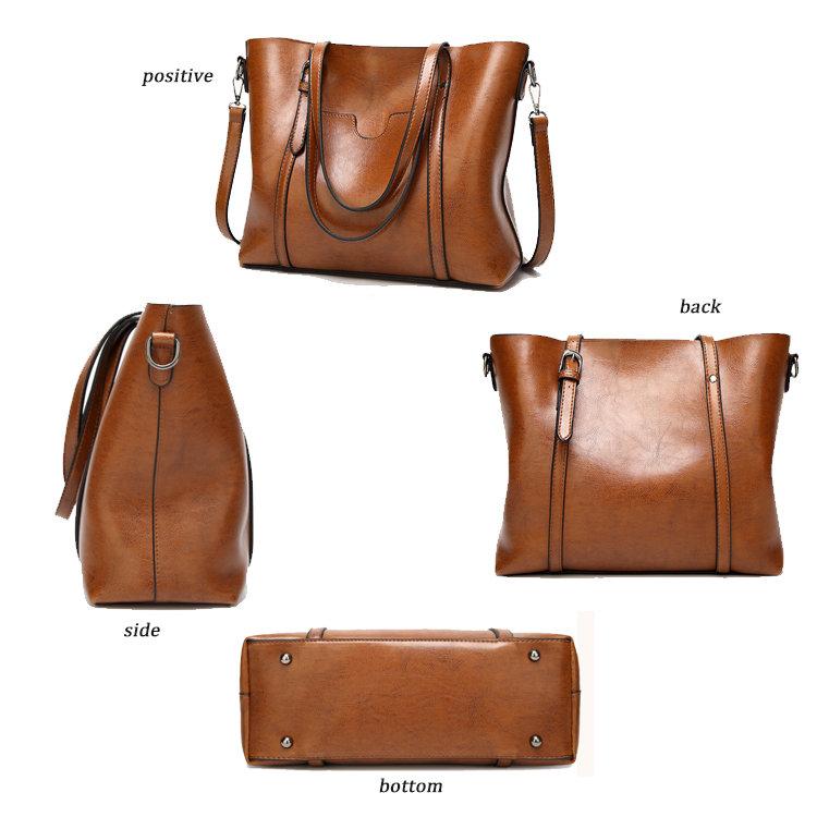product-Osgoodway-Osgoodway2 Wholesale fashion oil wax PU leather handbags stylish ladies big women