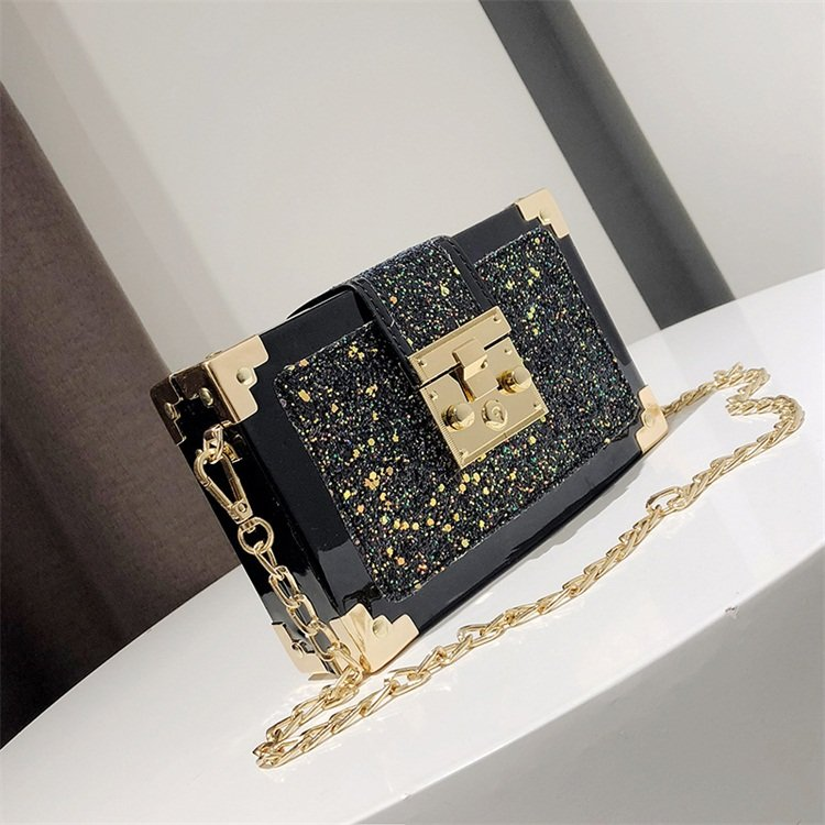 product-Osgoodway2 New coming women mini handbag Korean square sequined girl fashion chain bling pur-1