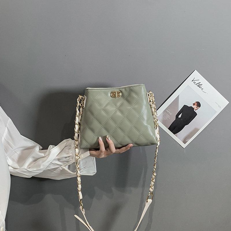 Osgoodway2 wild diamond chain women handbags shoulder bags pu leather crossbody bags 2020