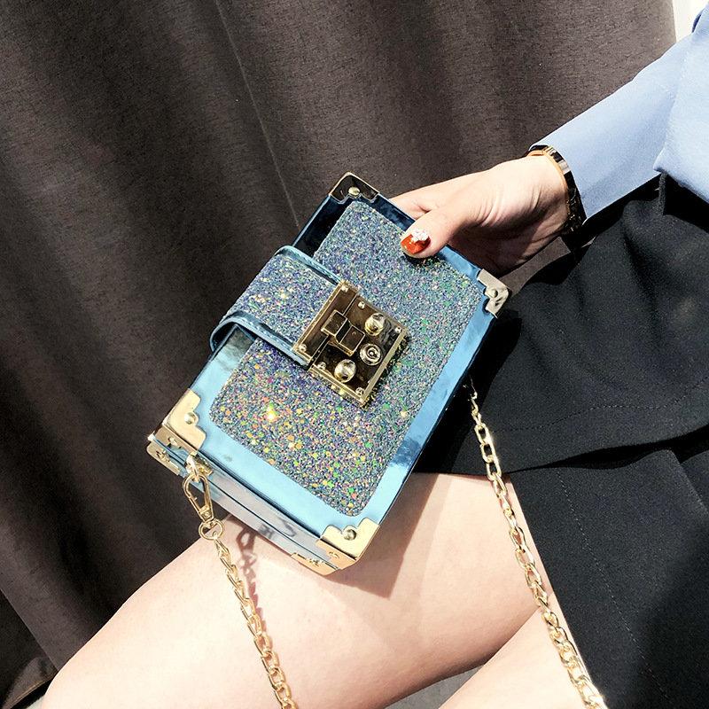 Osgoodway2 Korean fashion sequined messenger chain bag women fashion crossbody bag