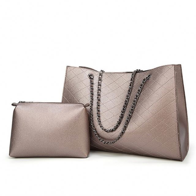 Osgoodway2 Wholesale Geometric Embroidery Large Ladies Shoulder Crossbody Bags PU Leather Chain Bags Handbag
