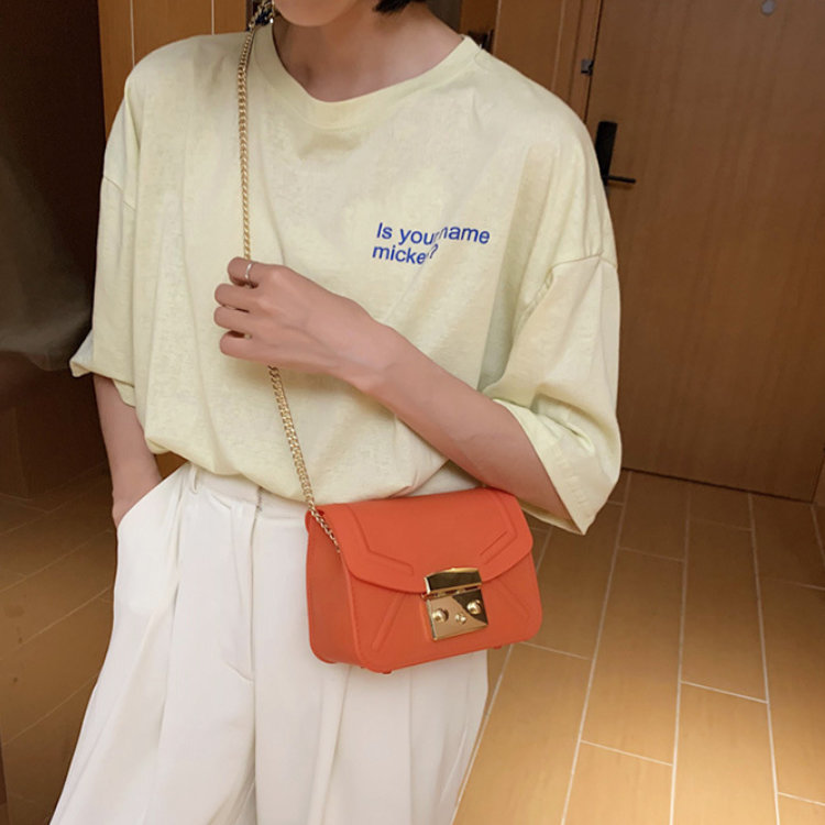 product-Osgoodway-Osgoodway 2020 new matte frosted single shoulder crossbody small square bag candy