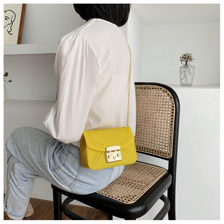 product-Osgoodway 2020 new matte frosted single shoulder crossbody small square bag candy color jell-1