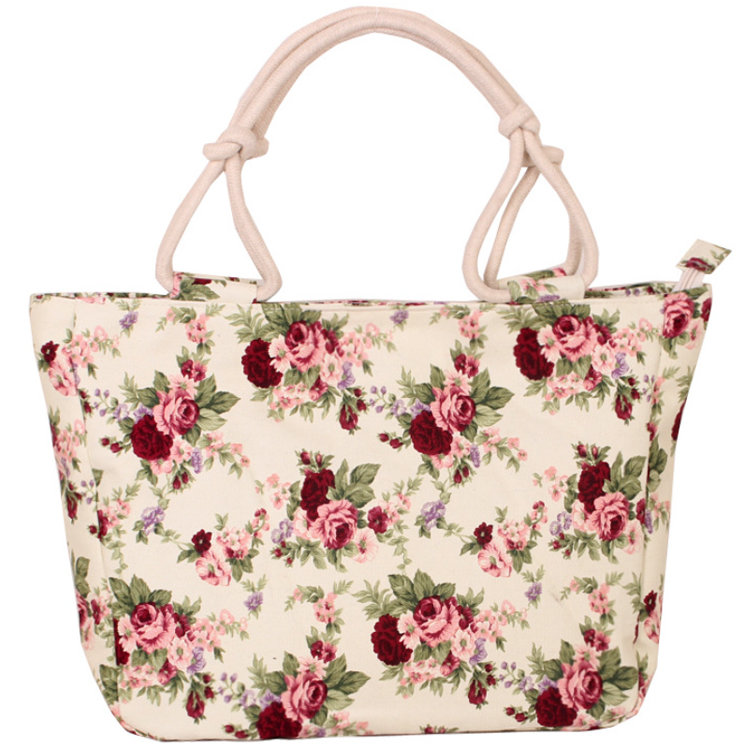 product-Osgoodway-Osgoodway2 Wholesale Eco Floral Print Canvas Bags Handbag Women Large Canvas Tote