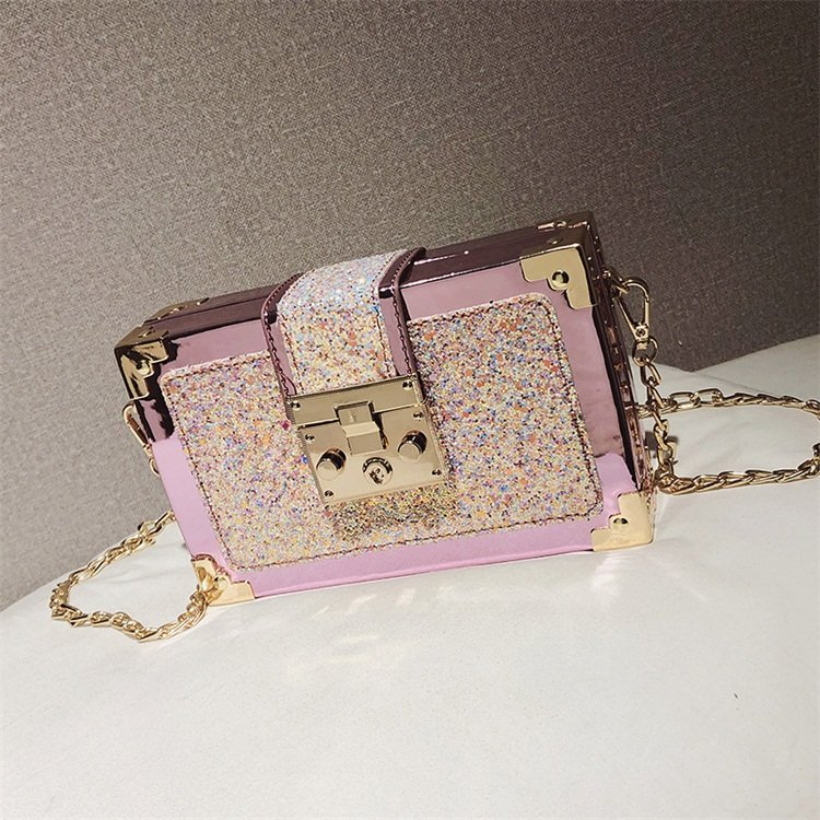 product-Osgoodway-Osgoodway2 New coming women mini handbag Korean square sequined girl fashion chain
