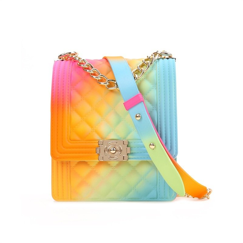product-Osgoodway-Osgoodway2 Colorful PVC jelly small square chain clutch crossbody bag little girls