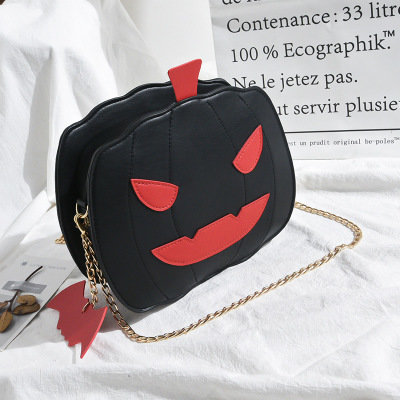product-Osgoodway-Osgoodway2 Funny pumpkin shape cute personality girls chain crossbody bag ladies c