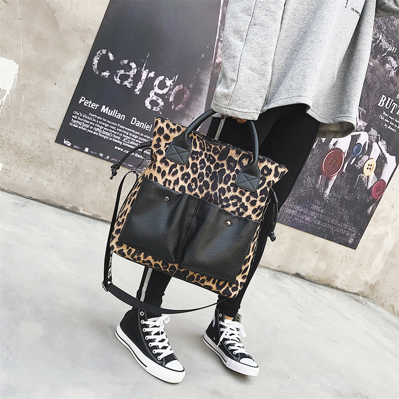 product-Osgoodway2 leopard print large capacity ladies tote bag luxury leather trendy handbags for w-1