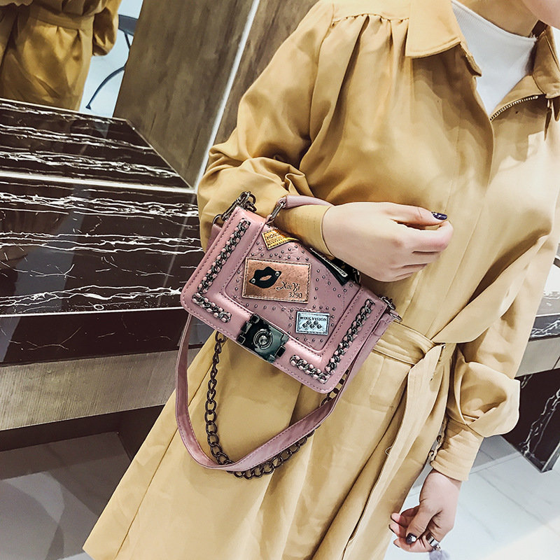 product-Osgoodway2 Women flower chain crossbody bag high quality ladies PU leather small purses hand-1