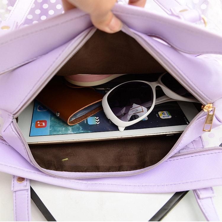 product-Osgoodway2 2019 Summer Lady Handbag Dot Printing Beach Transparent Shoulder Tote Bag-Osgoodw-1