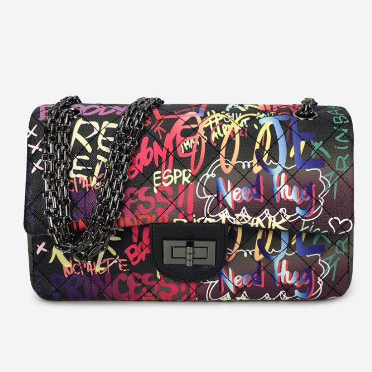 product-Osgoodway-Osgoodway 2020 Graffiti Bag Ladies Fashion Handbags Women Leather Graffiti Shoulde