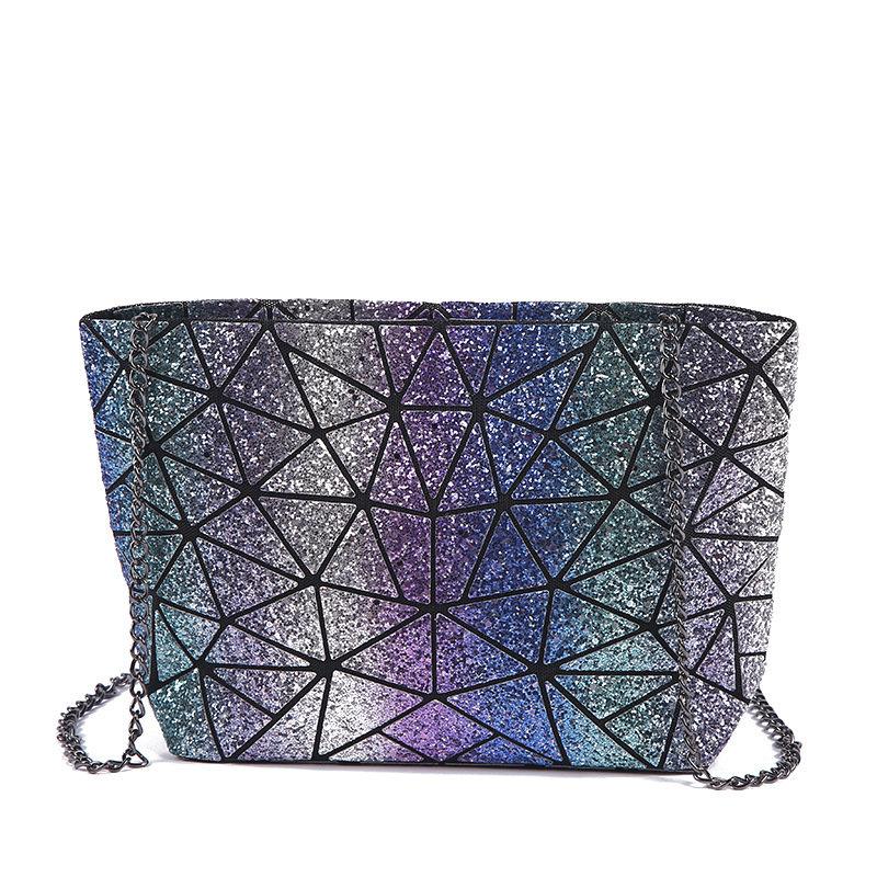 Osgoodway2Fashion Sequin Satchel Sling Bag Laser Hologram Women Crossbody Chain Shoulder Bag