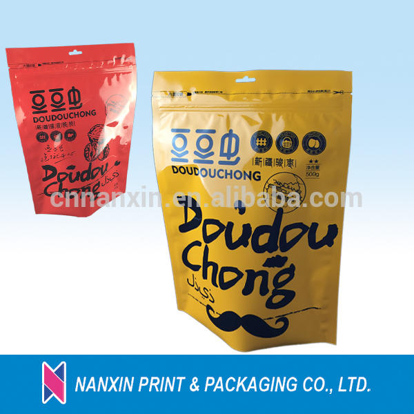 Food grade plastic zipper bag packaging for food