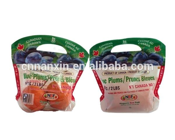 air hole food grade fresh fruit packaging bag with zipper