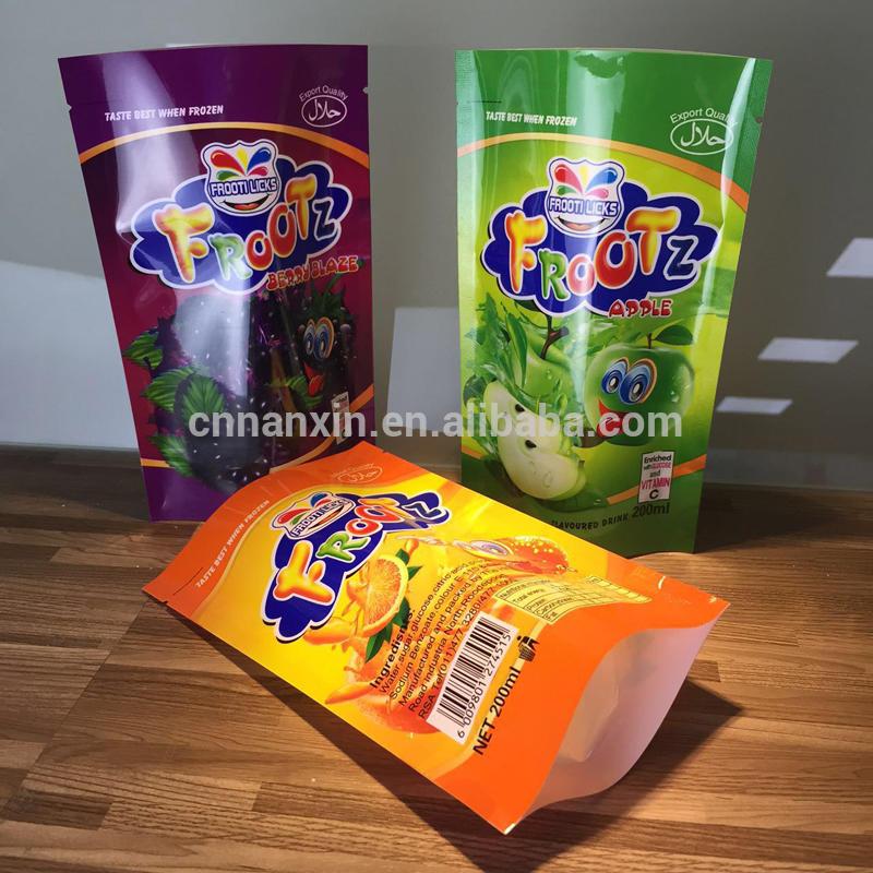 Stand up food packaging sachet food packaging bag