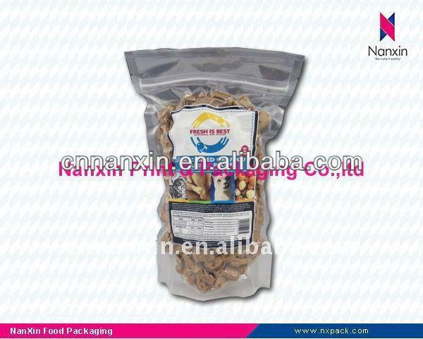 plastic vacuum packaging bag for nuts packaging stand up pouch with zipper