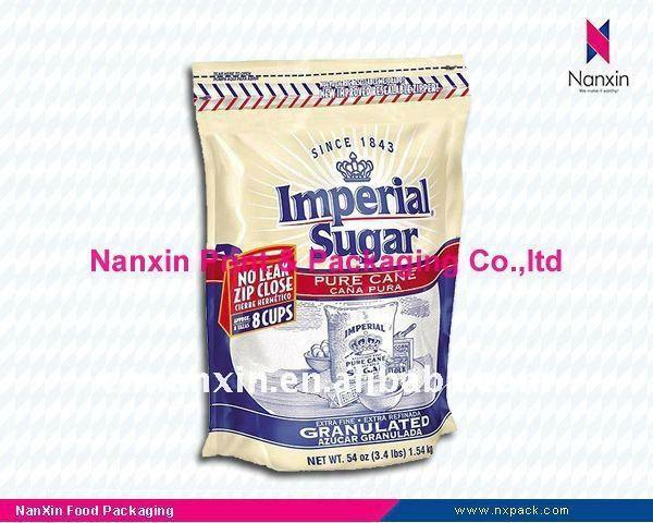 cane sugar bag plastic food bag food packaging