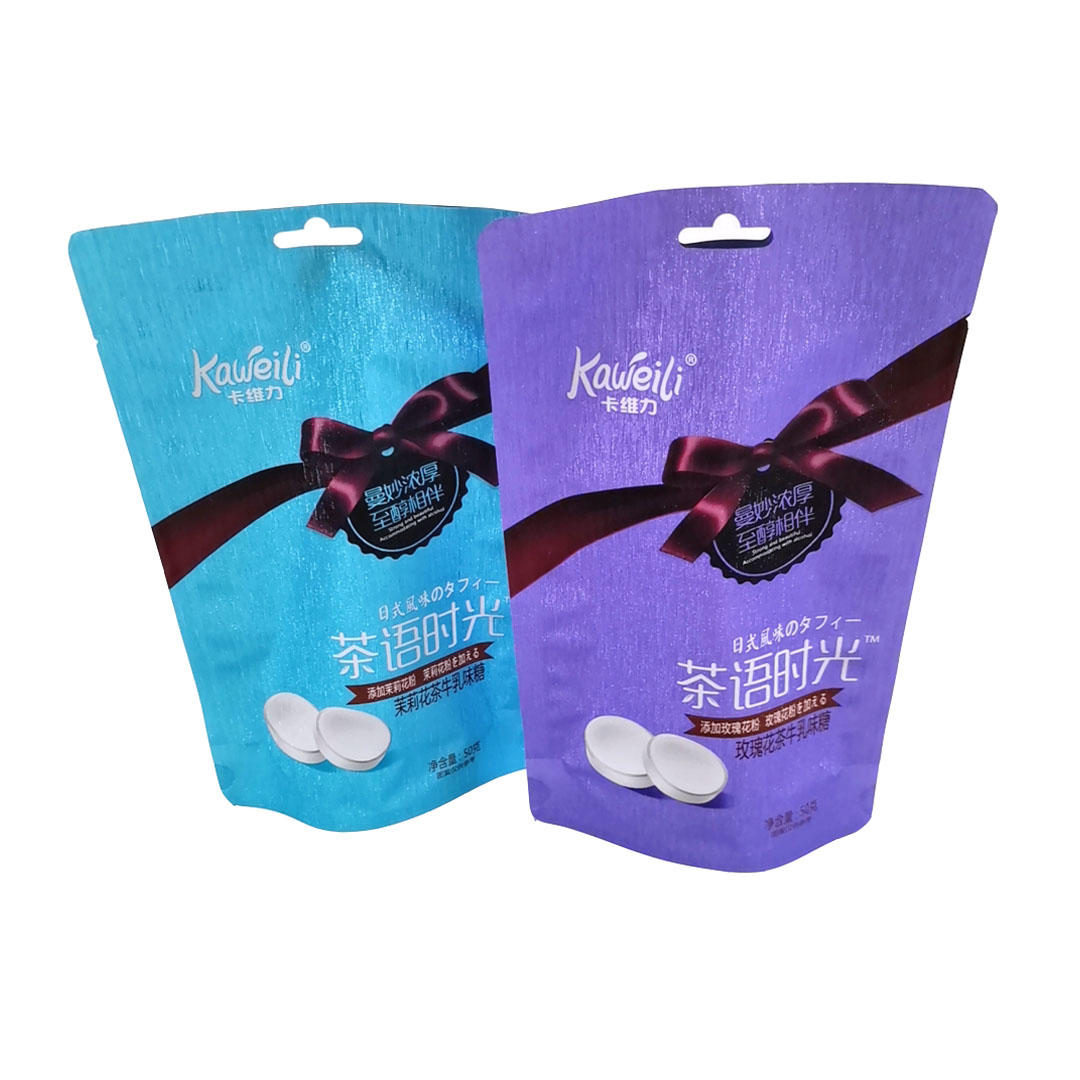 Aluminum foil plastic Stand up bags for food snack candy