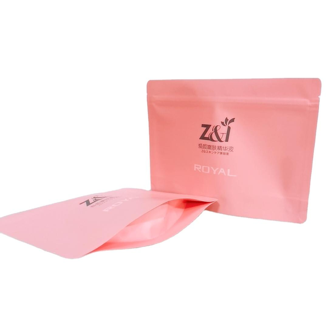 Resealed Customized Liquid Leak proof Skin care packing bags Heal sealing Stand up pouch with Zipper