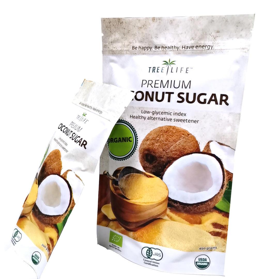 Customized Matt Zipper Stand up pouch For Coconut sugar/Candy