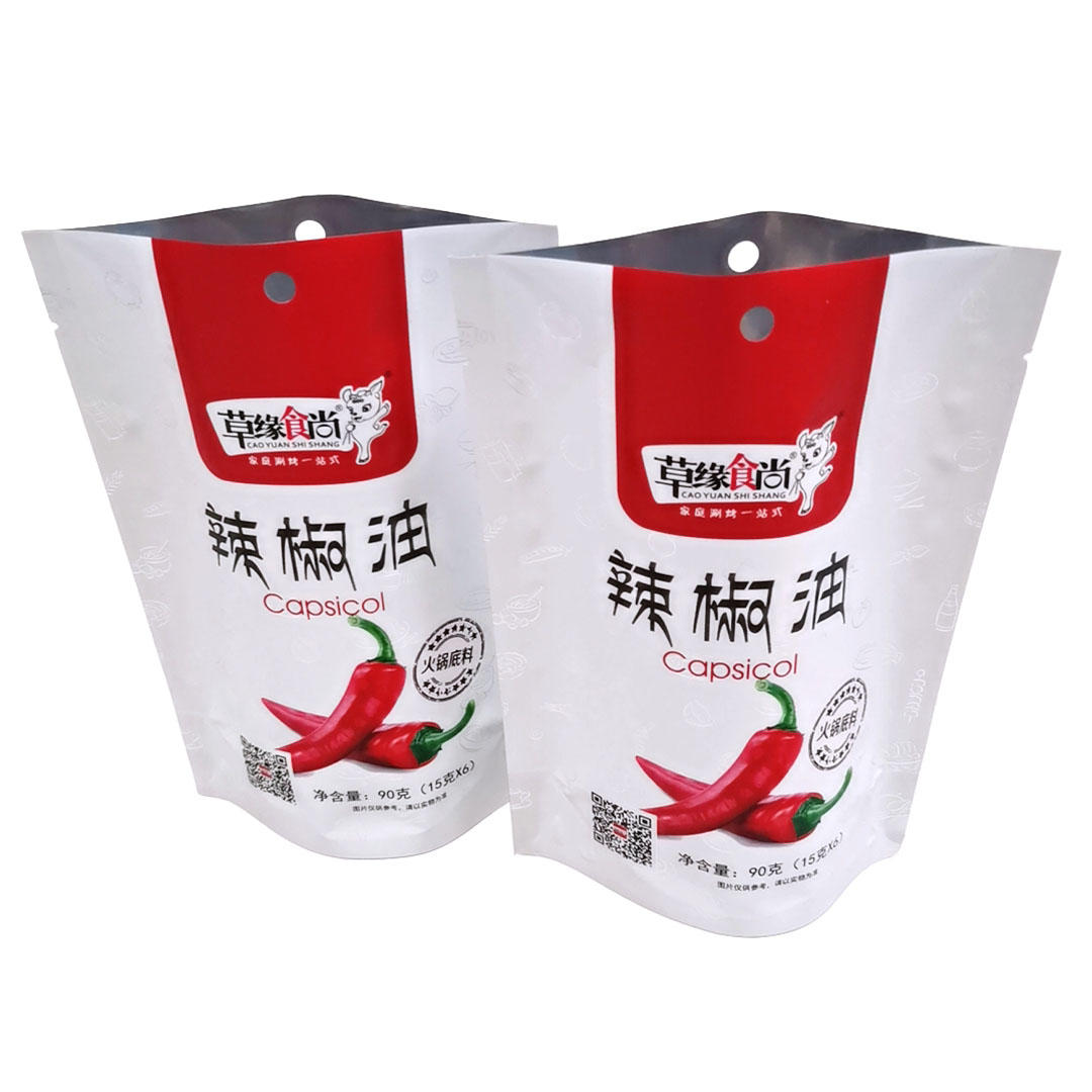Matte Stand up pouch for Capsicol/Hot pot sauce