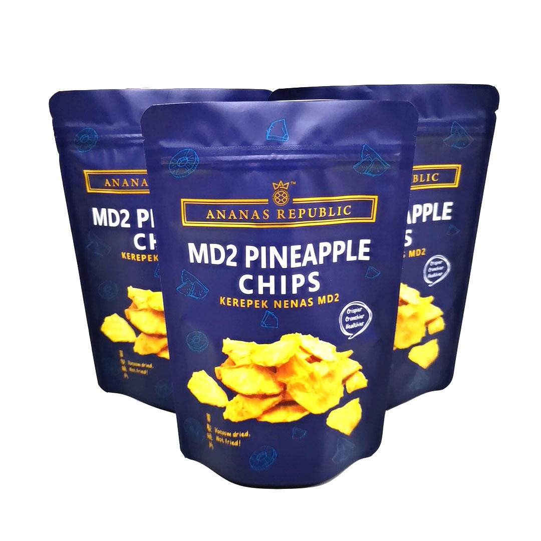 Resealed Aluminum Foil Zipper stand up pouch for Pineapple Chips