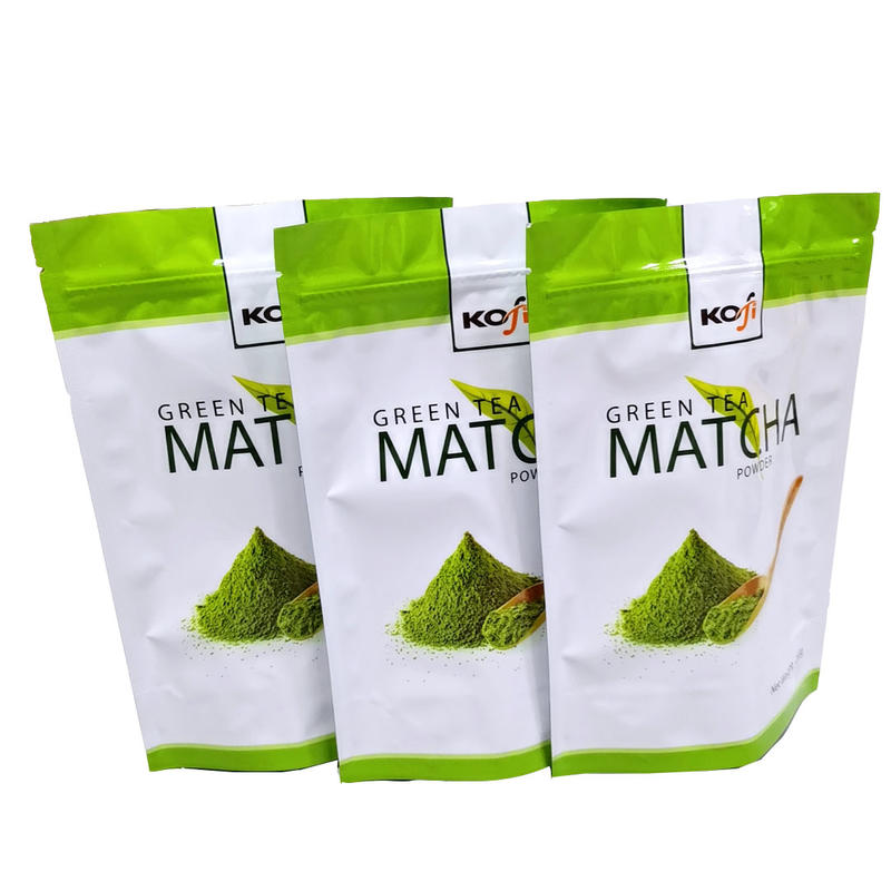 Resealed Moisture proof Zipper stand up pouch for Matcha Powder