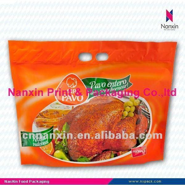 anti-fog roasted chicken bag with zipper