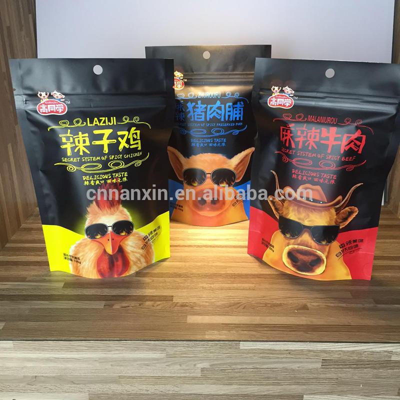 Matt printing food packaging for snacks bag manufacturer