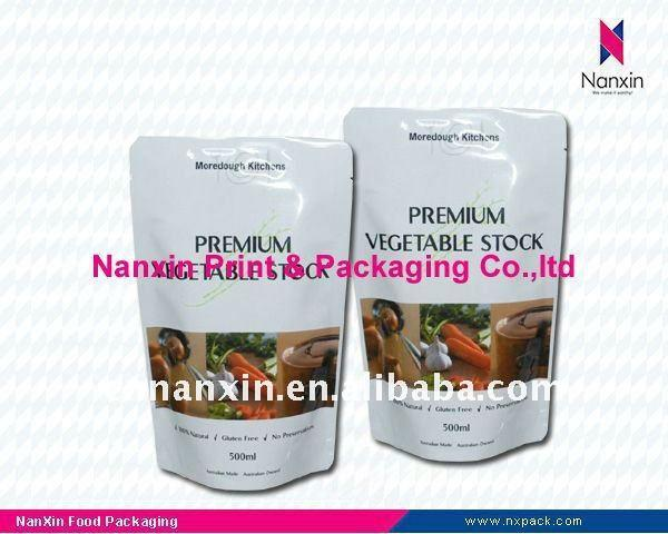 Frozen food packaging bag - stand up pouch for vegetable packaging