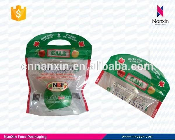 transparent fresh fruit zipper packaging bags vegetables plastic bags