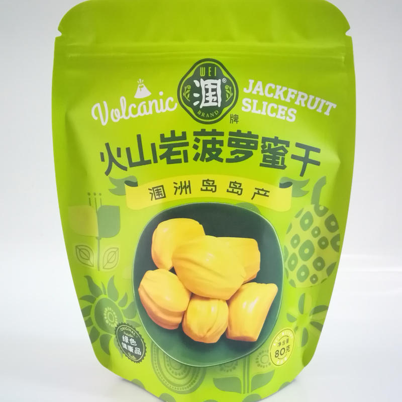 Resealable special-shaped stand up pouch packaging for dried fruit with zipper