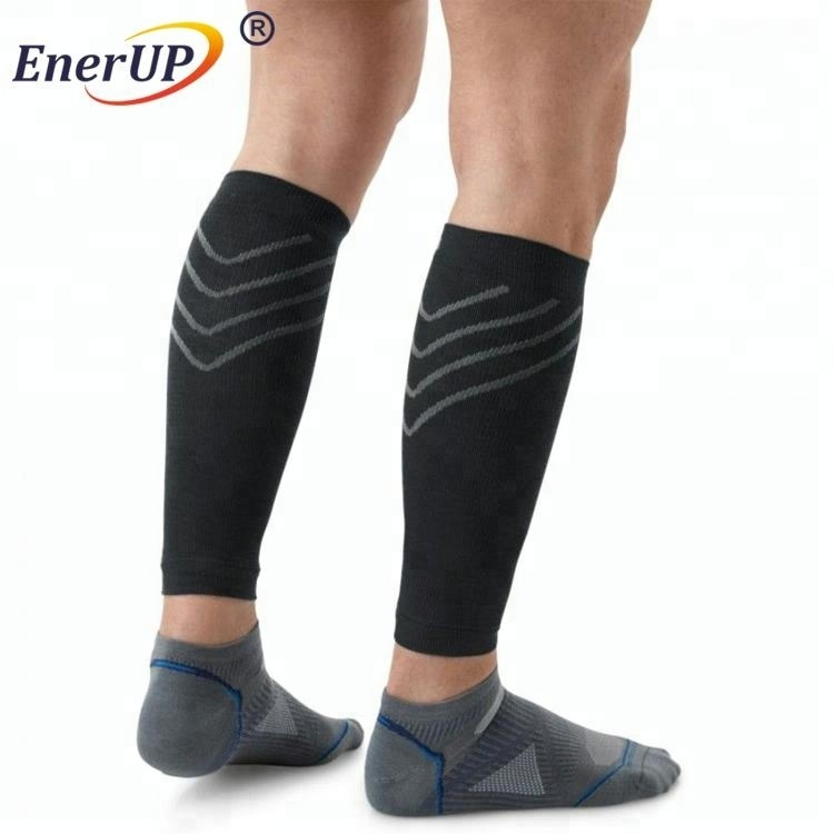 custom copper nylon sports compression calf leg sleeves