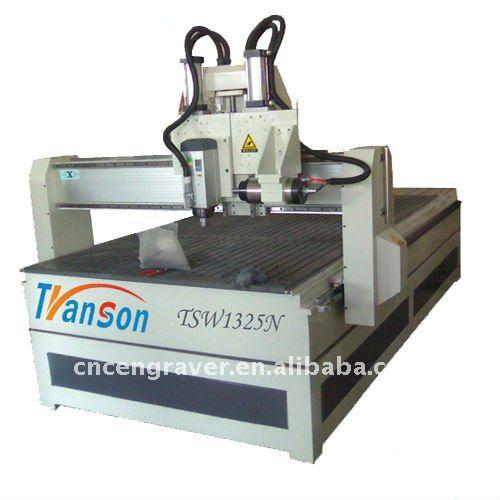 Transon Brand High Speed wood carving cnc router with Horizontal Spindle