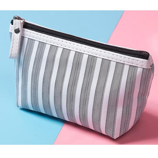 High Quality 2020 Women Mini Travel cute stripe Lady Makeup Bag Pouch bag Phone bagCosmetic Wholesale