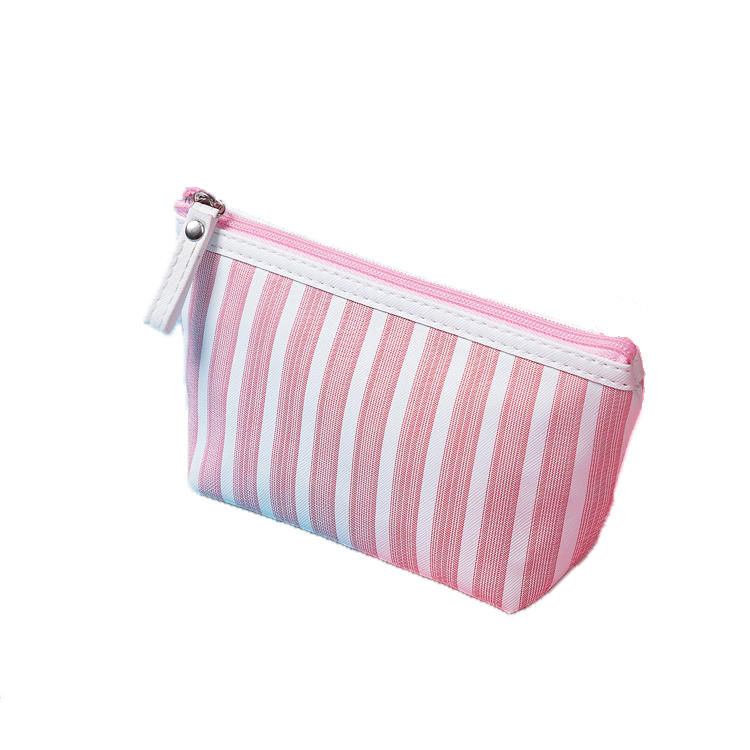 High Quality 2020 Women Mini Travel cute stripe Lady Makeup Bag Pouch bag Phone bagCosmetic Wholesale