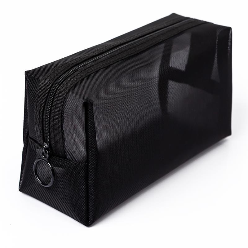 Women Transparent Cosmetic Travel Function Makeup Case Small Large Black Zipper Organizer Storage Pouch Toiletry Beauty wash bag