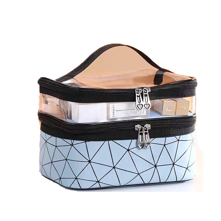 Multifunction Travel Clear Makeup Bag Fashion Diamond Cosmetic Bag Toiletries Organizer Waterproof Females Storage Make Up Cases