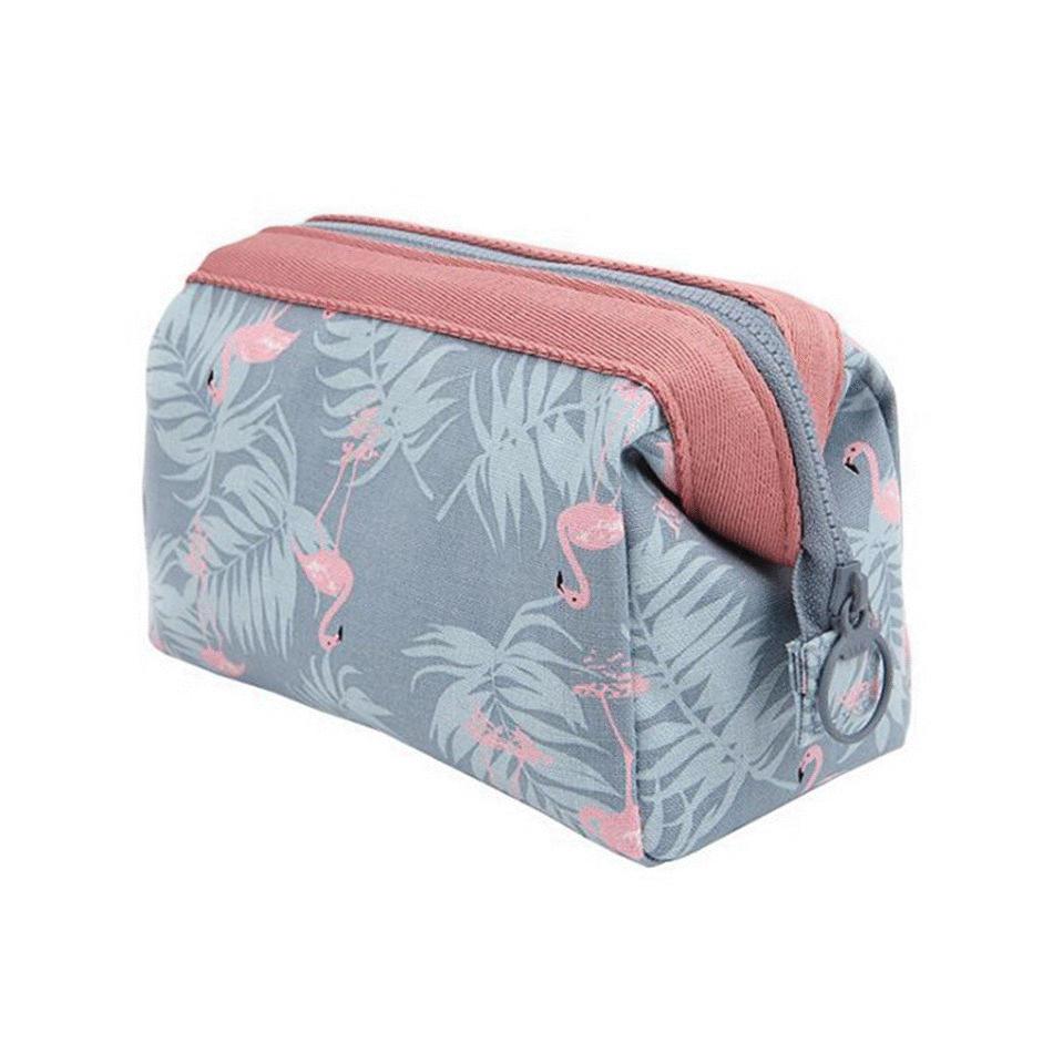New arrival Travel Animal Flamingo Women Girl Cosmetic Bag Makeup Beauty Wash Organizer Toiletry pouch Storage Kit Bath Case