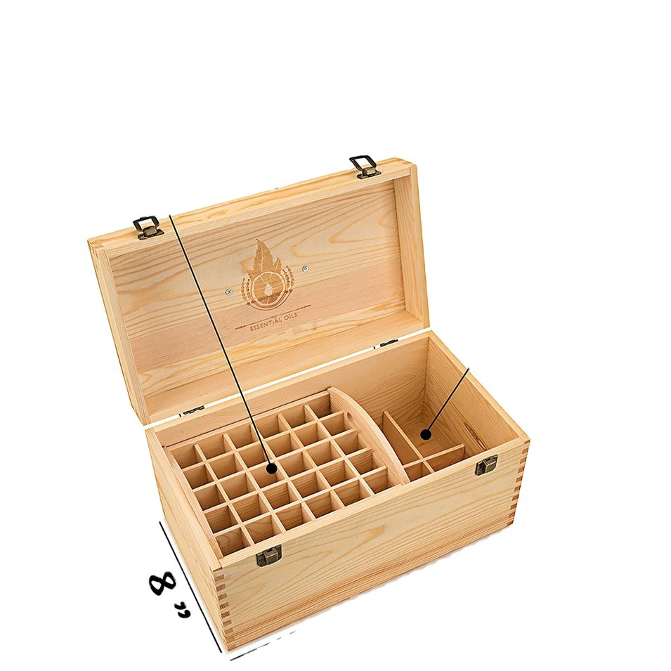Hot sale unfinished wooden essential oil storage box